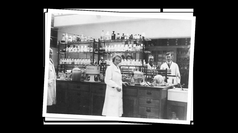 Organon historic lab photo
